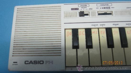 Instrumentos musicales: ANTIGUO PIANO ORGANO JUGUETE DE INICIACION MARCA CASIO PT 1 - Foto 3 - 40811198