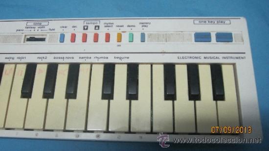 Instrumentos musicales: ANTIGUO PIANO ORGANO JUGUETE DE INICIACION MARCA CASIO PT 1 - Foto 2 - 40811198
