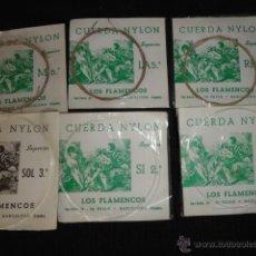 Instrumentos musicales: LOTE DE 6 CUERDAS JUEGO CUERDA NYLON LOS FLAMENCOS SUPPERIOR 1ª 2ª 3ª 4ª 5ª 6ª. Lote 39459296