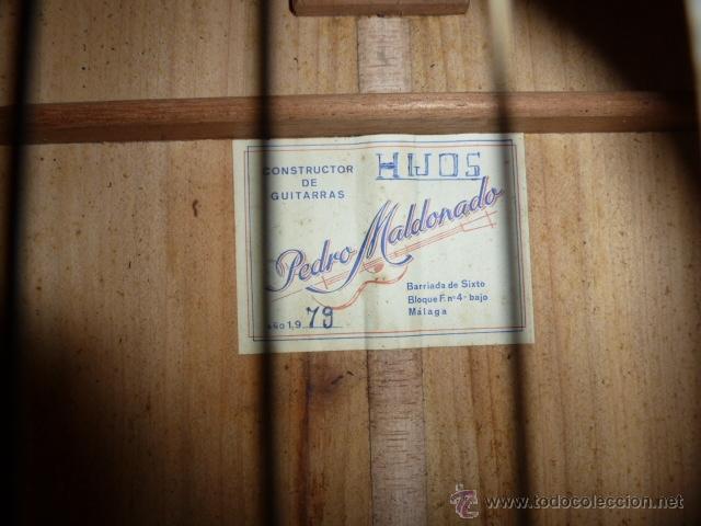 Instrumentos musicales: Guitarra española Hijos de Pedro Maldonado, de 1979 - Foto 2 - 39894029