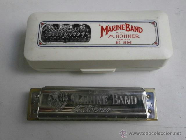 HARMONICA CON ESTUCHE MARINE BAND M.HOHNER LETRA A HARMONICA-36 (Música - Instrumentos Musicales - Viento Metal)