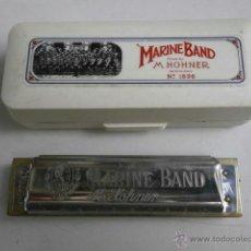 Instrumentos musicales: HARMONICA CON ESTUCHE MARINE BAND M.HOHNER LETRA A HARMONICA-36. Lote 39934931