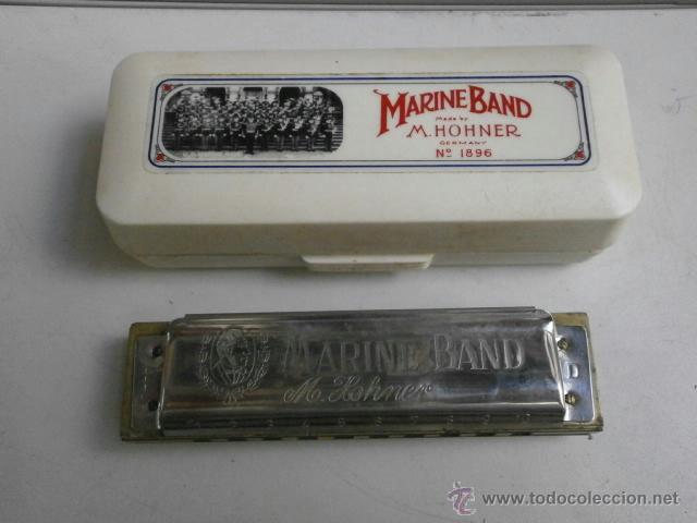 HARMONICA CON ESTUCHE MARINE BAND M.HOHNER LETRA D HARMONICA-38 (Música - Instrumentos Musicales - Viento Metal)