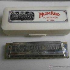 Instrumentos musicales: HARMONICA CON ESTUCHE MARINE BAND M.HOHNER LETRA D HARMONICA-38. Lote 39934959