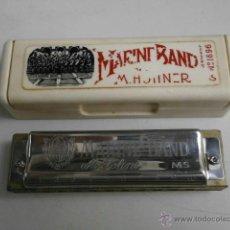 Instrumentos musicales: HARMONICA CON ESTUCHE MARINE BAND M.HOHNER LETRA G HARMONICA-41. Lote 39935014