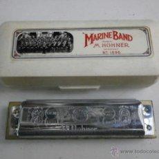 Instrumentos musicales: HARMONICA CON ESTUCHE MARINE BAND M.HOHNER LETRA G HARMONICA-46. Lote 39950905