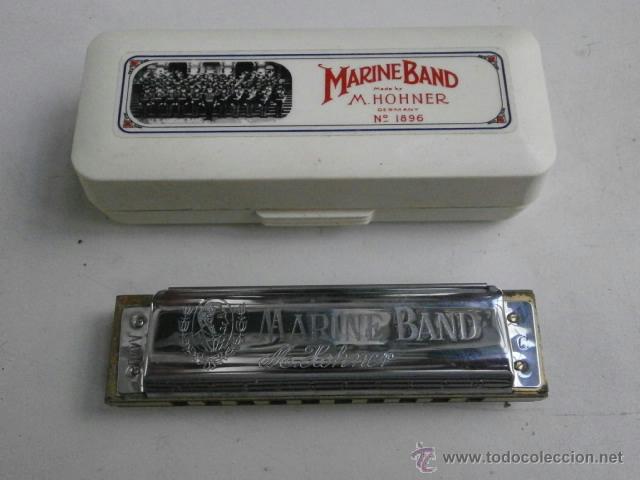 HARMONICA CON ESTUCHE MARINE BAND M.HOHNER LETRA C HARMONICA-47 (Música - Instrumentos Musicales - Viento Metal)