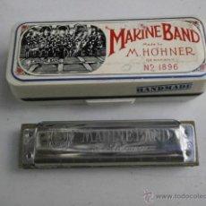 Instrumentos musicales: HARMONICA CON ESTUCHE MARINE BAND M.HOHNER LETRA F HARMONICA-48. Lote 39950927