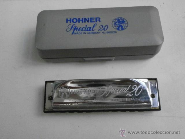 ARMONICA CON ESTUCHE MARINE BAND M.HOHNER LETRA B ESPECIAL 20 ARMONICA-52 (Música - Instrumentos Musicales - Viento Metal)