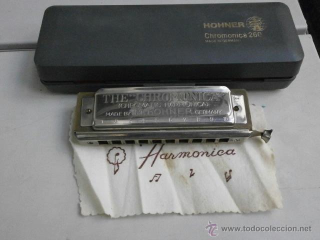 HARMONICA CON ESTUCHE HOHNER LETRA C CHROMONICA 260 HARMONICA-53 (Música - Instrumentos Musicales - Viento Metal)