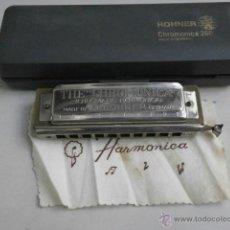 Instrumentos musicales: HARMONICA CON ESTUCHE HOHNER LETRA C CHROMONICA 260 HARMONICA-53. Lote 39951016