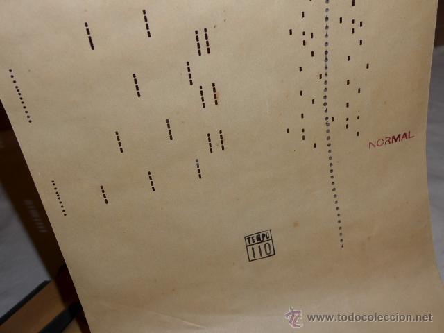 Instrumentos musicales: Lote de 2 rollo de pianola antiguos, originales. Fado blanquita. - Foto 3 - 40033173
