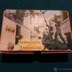 Instrumentos musicales: CASTAÑUELAS DE ESPAÑA - ARTESANÍA ESPAÑOLA - FABRICADO POR ARTESANIA TARREGA DE VALENCIA + FOLLETO . Lote 40158100