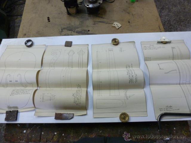 4 PLANOS DE CONSTRUCCION DE VIOLINES (Música - Instrumentos Musicales - Accesorios)