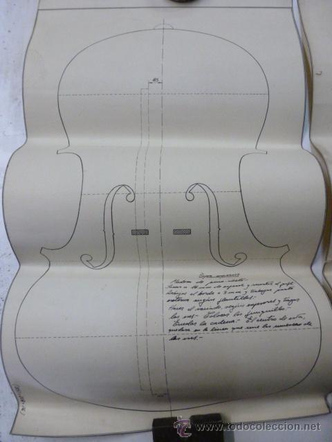 Instrumentos musicales: 4 Planos de construccion de violines - Foto 2 - 40385257