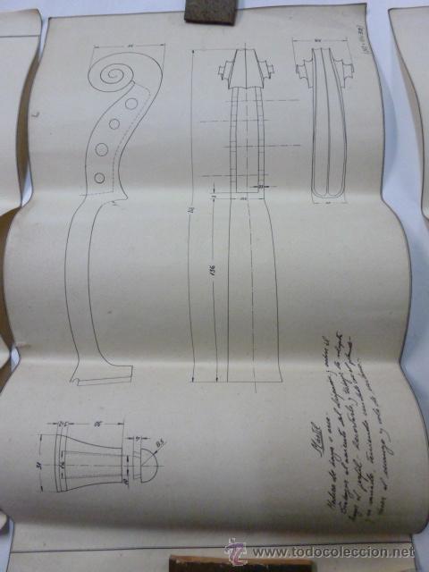 Instrumentos musicales: 4 Planos de construccion de violines - Foto 3 - 40385257
