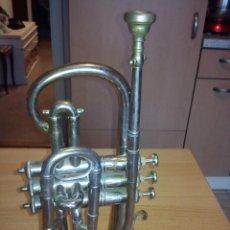 Instrumentos musicales: ANTIGUA TROMPETA DE 3 PISTONES,8.CIE..BALE .MAD SUIZE... Lote 40945539