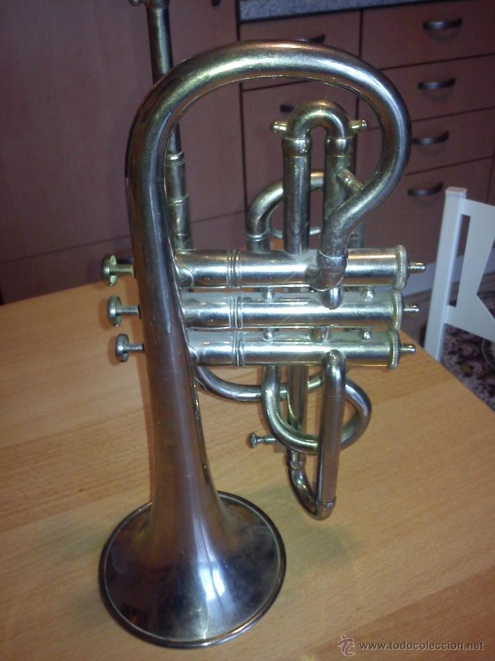 Instrumentos musicales: ANTIGUA TROMPETA DE 3 PISTONES,8.CIE..BALE .MAD SUIZE.. - Foto 9 - 40945539