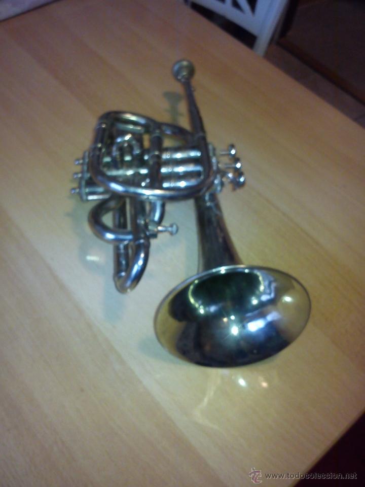 Instrumentos musicales: ANTIGUA TROMPETA DE 3 PISTONES,8.CIE..BALE .MAD SUIZE.. - Foto 12 - 40945539