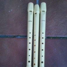 Instrumentos musicales: LOTE TRES FLAUTAS DULCE HOHNER. Lote 41193653