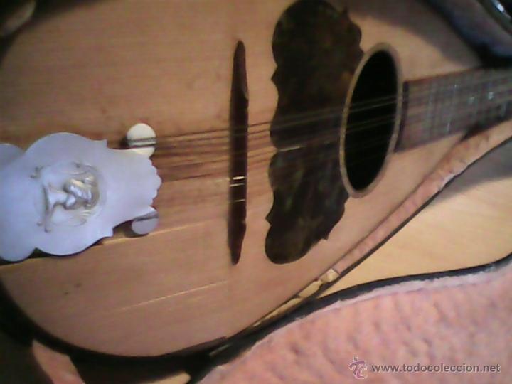 Instrumentos musicales: ANTIGUA Y FANTASTICA MANDOLINA, CON SU CAJA ORIGINAL.DOS ANOS 40.WITSCHI-BENGUEREL,MAD SUISSE. - Foto 4 - 41207154