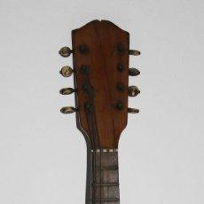 Instrumentos musicales: MANDOLINA EN MADERA DE FRUTAL CON INCRUSTACIONES DE NÁCAR EN EL DIAPASÓN - SIGLO XIX. Lote 41333939