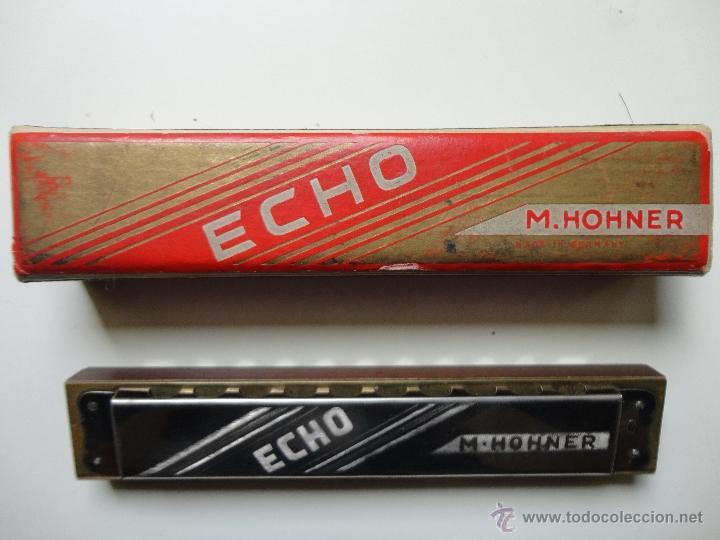 ARMONICA M. HOHNER- ECHO- MADE IN GERMANY- W/ ORIGINAL BOX- EXC. (Música - Instrumentos Musicales - Viento Metal)