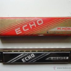 Instrumentos musicales: ARMONICA M. HOHNER- ECHO- MADE IN GERMANY- W/ ORIGINAL BOX- EXC.. Lote 41503247