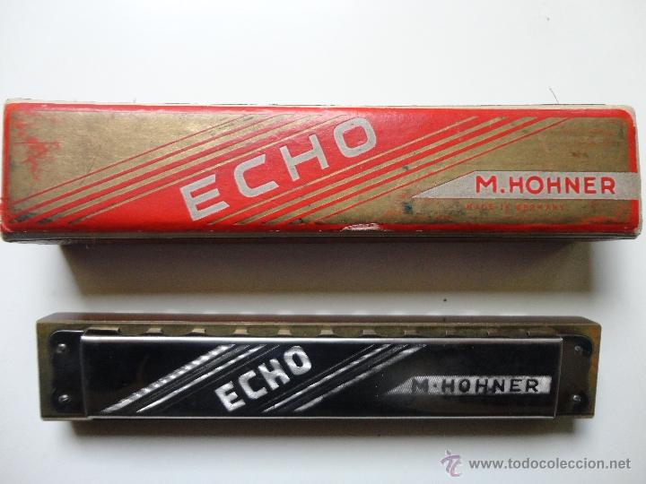 Instrumentos musicales: ARMONICA M. HOHNER- ECHO- MADE IN GERMANY- w/ ORIGINAL BOX- EXC. - Foto 2 - 41503247