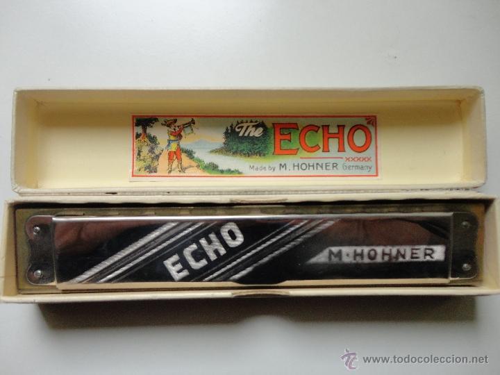 Instrumentos musicales: ARMONICA M. HOHNER- ECHO- MADE IN GERMANY- w/ ORIGINAL BOX- EXC. - Foto 5 - 41503247
