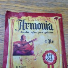 Instrumentos musicales: ANTIGUO SOBRE CON CUERDA DE GUITARRA ARMONIA - PACO DE LUCIA. Lote 268263194