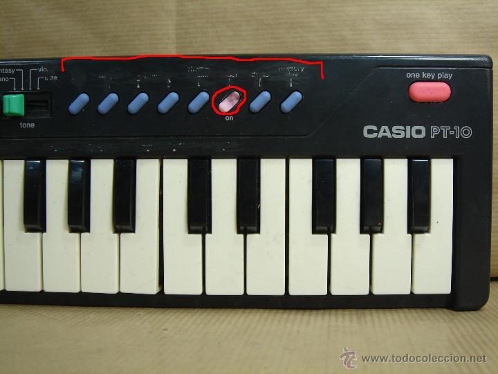 Instrumentos musicales: ORGANO TECLADO PIANO -CASIO PT-10 - JAPAN 80 s ¡¡¡FUNCIONA ¡¡ PT10 - Foto 8 - 41540639