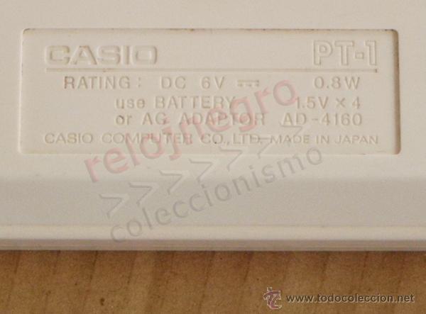 Instrumentos musicales: TECLADO CASIO PT-1 BLANCO INSTRUMENTO MUSICAL - NO FUNCIONA MÚSICA AÑOS 80 VINTAGE RETRO PT1 MÁQUINA - Foto 3 - 42155177