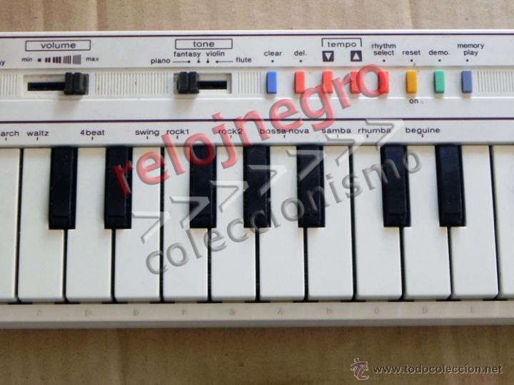 Instrumentos musicales: TECLADO CASIO PT-1 BLANCO INSTRUMENTO MUSICAL - NO FUNCIONA MÚSICA AÑOS 80 VINTAGE RETRO PT1 MÁQUINA - Foto 4 - 42155177