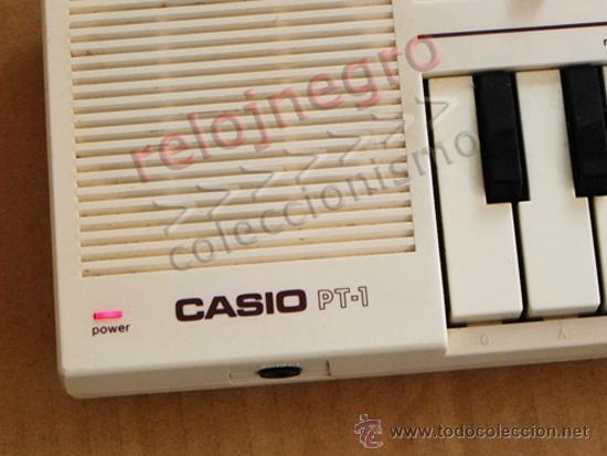Instrumentos musicales: TECLADO CASIO PT-1 BLANCO INSTRUMENTO MUSICAL - NO FUNCIONA MÚSICA AÑOS 80 VINTAGE RETRO PT1 MÁQUINA - Foto 5 - 42155177