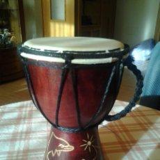 Instrumentos musicales: PEQUEÑO TIMBAL ARTESANAL. 14 X 10 CENTÍMETROS. Lote 42330407
