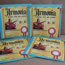 Instrumentos musicales: 4 X ANTIGUA CUERDA DE GUITARRA - ARMONIA 2ª SI - PACO DE LUCIA AÑOS 70 -¡¡¡ NUEVAS ¡¡¡ CUERDAS. Lote 42608694