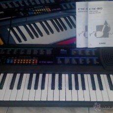Instrumentos musicales: ORGANO ELECTRÓNICO CASIO CTK-80. Lote 43148730