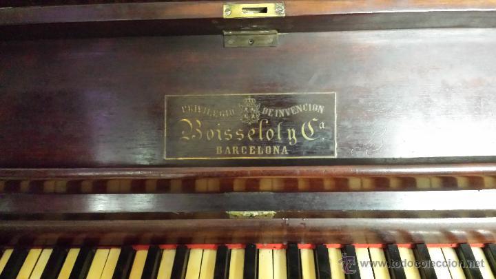 Instrumentos musicales: PIANO VERTICAL BOISSELOT Y CIA, - 1.847 - 404 - Foto 5 - 43569476