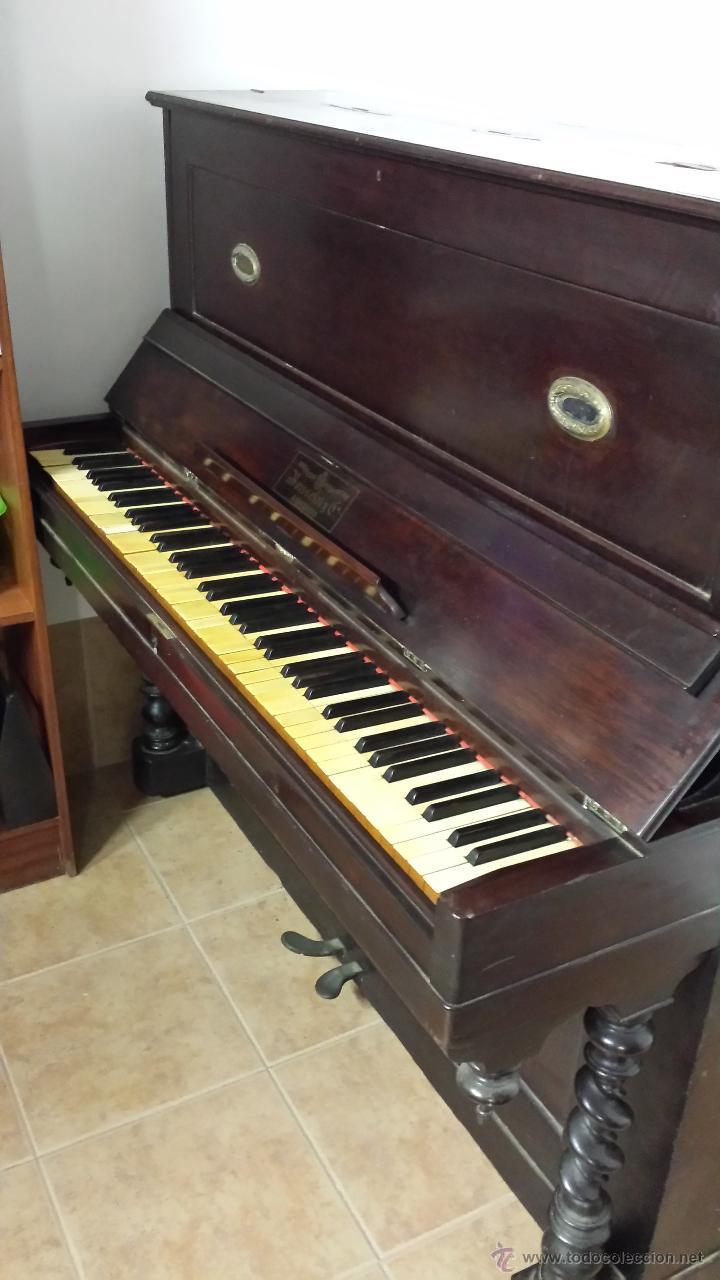 Instrumentos musicales: PIANO VERTICAL BOISSELOT Y CIA, - 1.847 - 404 - Foto 6 - 43569476