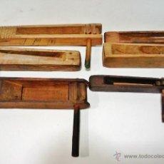 Instrumentos musicales: GRAN LOTE DE 8 CARRACAS ANTIGUAS DE MADERA. INTERESANTE CONJUNTO DE ETNOGRAFÍA POPULAR. . Lote 43776830