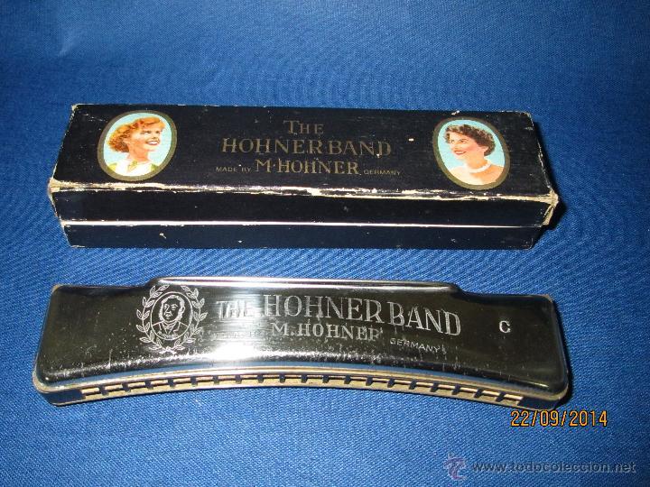 Instrumentos musicales: Antigua Armónica * THE HOHNERBARD C * de M. HOHNER Madein Germany en Caja Original - Año 1950-60s. - Foto 3 - 45371686