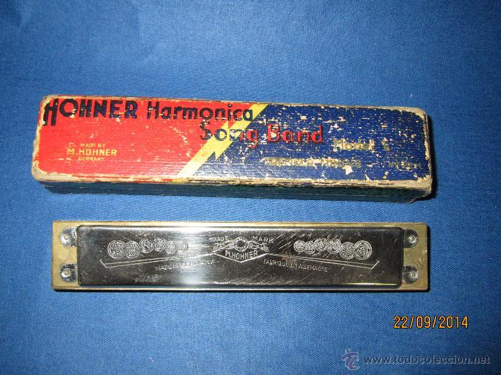 Instrumentos musicales: Armónica * SONG BAND Tremolo Tuning C * de M. HOHNER Made in Germany en Caja Original - Año 1950s. - Foto 2 - 45371787