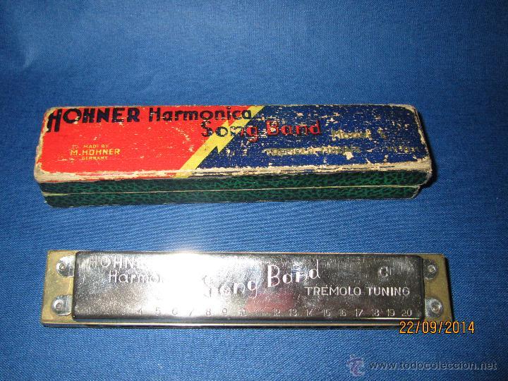 Instrumentos musicales: Armónica * SONG BAND Tremolo Tuning C * de M. HOHNER Made in Germany en Caja Original - Año 1950s. - Foto 4 - 45371787