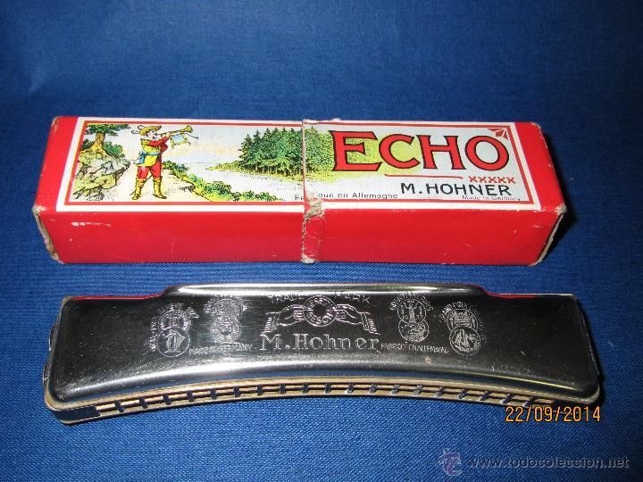 ANTIGUA ARMÓNICA * ECHO C * DE M. HOHNER MADE IN GERMANY EN CAJA ORIGINAL - AÑO 1950S. (Música - Instrumentos Musicales - Viento Madera)