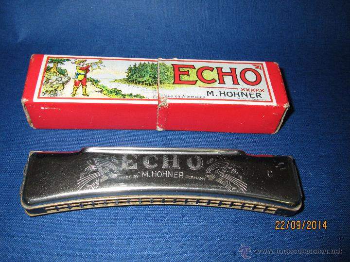 Instrumentos musicales: Antigua Armónica * ECHO C * de M. HOHNER Made in Germany en Caja Original - Año 1950s. - Foto 2 - 45372362