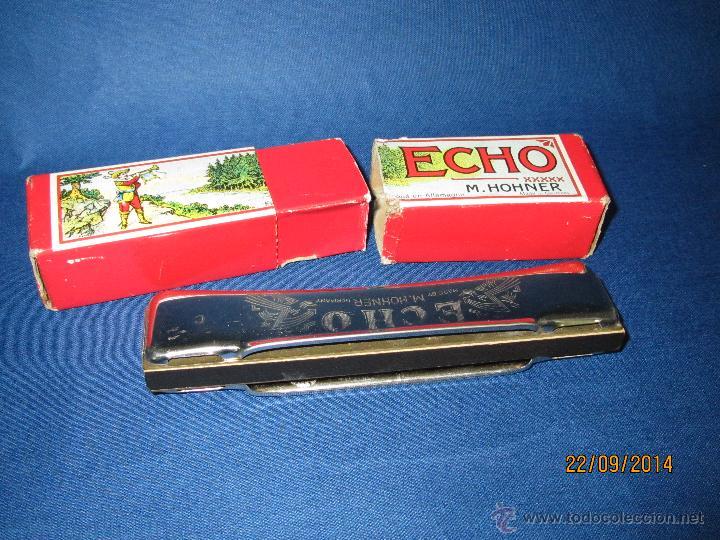 Instrumentos musicales: Antigua Armónica * ECHO C * de M. HOHNER Made in Germany en Caja Original - Año 1950s. - Foto 3 - 45372362