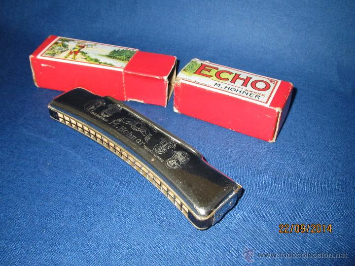 Instrumentos musicales: Antigua Armónica * ECHO C * de M. HOHNER Made in Germany en Caja Original - Año 1950s. - Foto 4 - 45372362