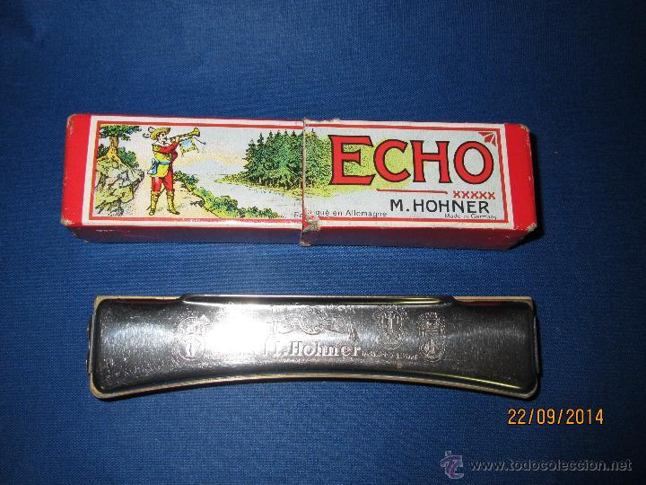 Instrumentos musicales: Antigua Armónica * ECHO C * de M. HOHNER Made in Germany en Caja Original - Año 1950s. - Foto 5 - 45372362