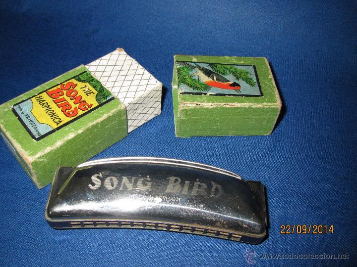 ANTIGUA ARMÓNICA * THE SOND BIRD * MADE IN GERMANY EN CAJA ORIGINAL - AÑO 1970S. (Música - Instrumentos Musicales - Viento Madera)